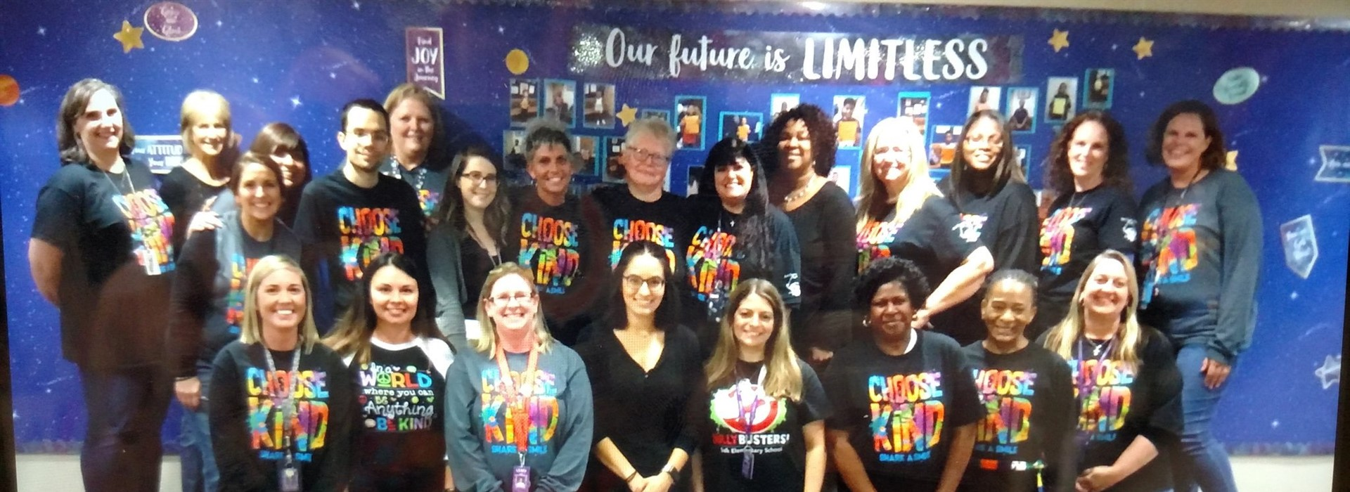 School Teachers in Choose Kind Shirts